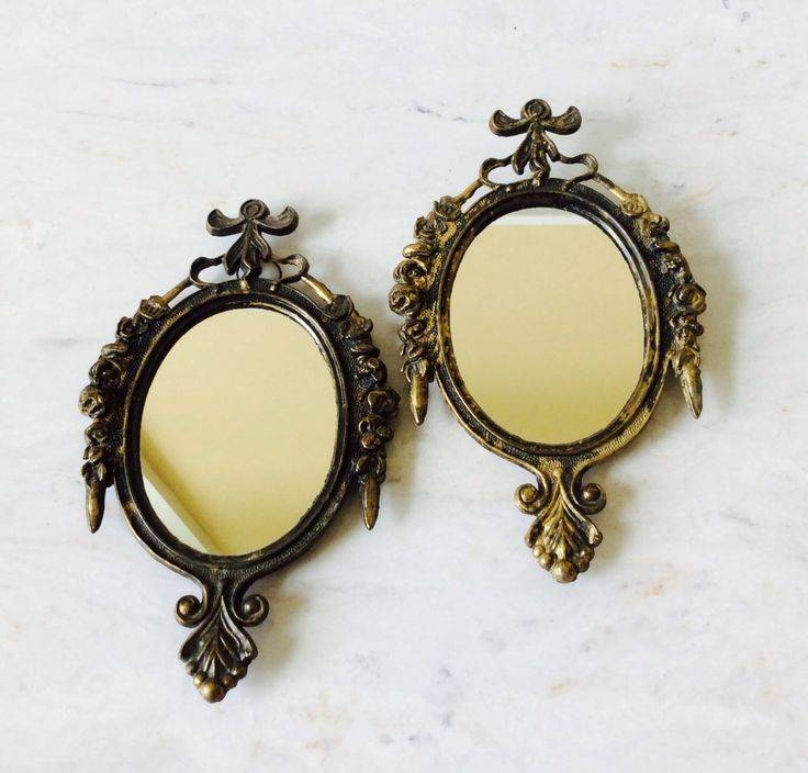 121 Best Vintage Mirrors Images On Pinterest | Vintage Mirrors In Small Vintage Mirrors (#2 of 30)