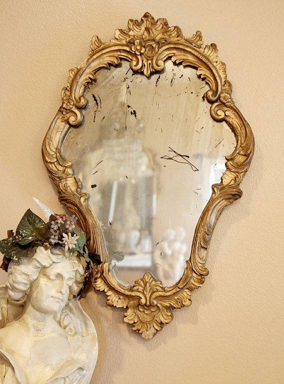 129 Best ~*~ Antique & Fancy Mirrors & Frames Images On Pinterest With Fancy Mirrors (#2 of 30)