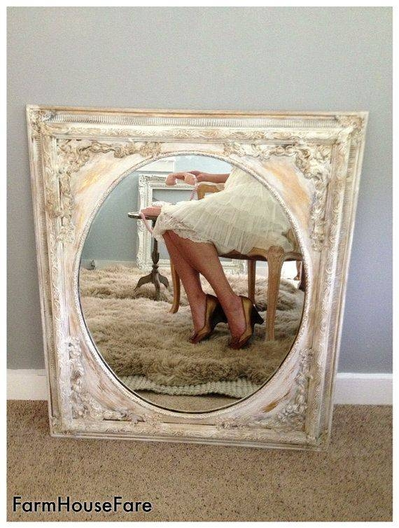 13 Best Mirror Frames For Living Room Images On Pinterest | Mirror Within Shabby Chic Gold Mirrors (#2 of 30)