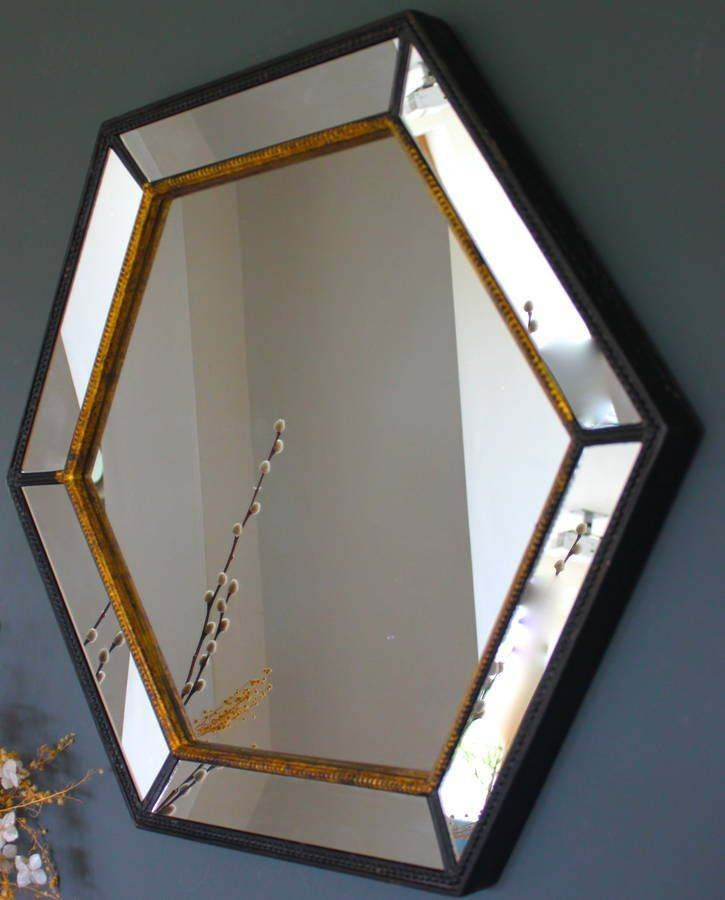 13 Best Mirror Images On Pinterest   Round Mirrors, Mirror Mirror Throughout Black And Gold Wall Mirrors (#1 of 20)