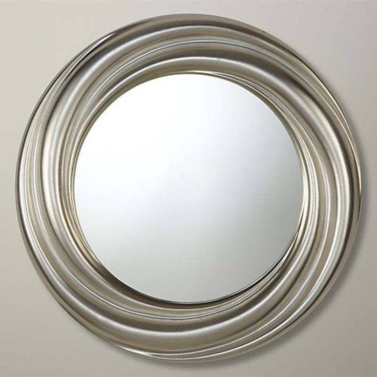 30 best of large round silver mirrors. Black Bedroom Furniture Sets. Home Design Ideas