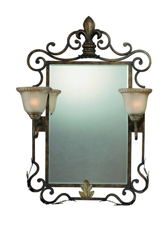 13 – Of Astounding Images Of Wrought Iron Bathroom Mirror And Throughout Wrought Iron Bathroom Mirrors (#2 of 30)