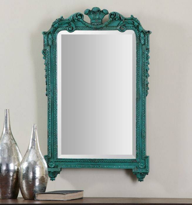 132 Best Uttermost Mirrors Images On Pinterest | Uttermost Mirrors Intended For Blue Distressed Mirrors (#3 of 30)