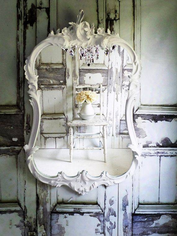 137 Best Mirrors Images On Pinterest | Mirror Mirror, Live And Mirror Intended For Vintage Shabby Chic Mirrors (View 20 of 20)