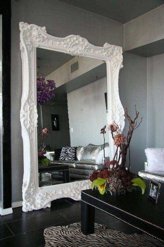 137 Best Mirrors Images On Pinterest | Mirror Mirror, Live And Mirror Throughout Large White Ornate Mirrors (View 12 of 20)