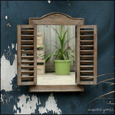 14 Best Garden With Mirrors Images On Pinterest | Garden Mirrors With Regard To Wall Mirrors With Shutters (#1 of 20)