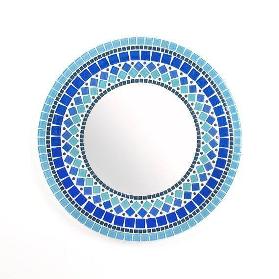 14 Best Mosaic Mirrors Images On Pinterest | Mosaic Mirrors For Blue Round Mirrors (View 7 of 30)