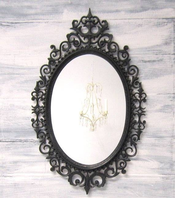 142 Best Decorative Ornate Antique & Vintage Mirrors For Sale With Black Antique Mirrors (#3 of 30)