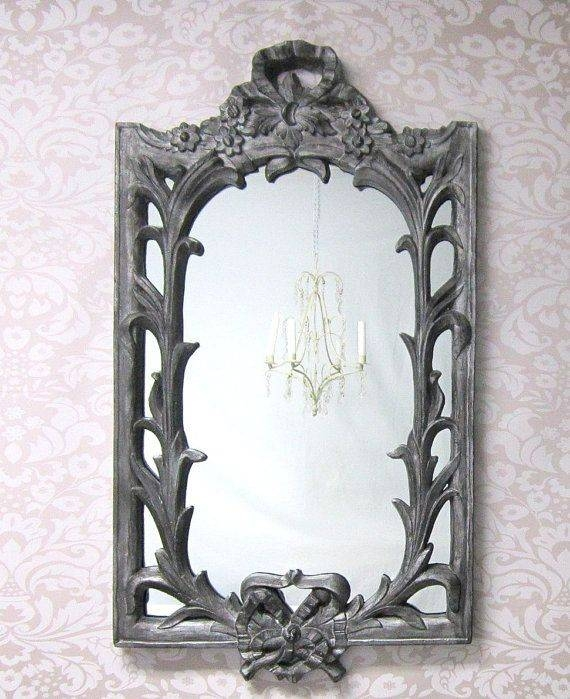 142 Best Decorative Ornate Antique & Vintage Mirrors For Sale With Regard To Black Vintage Mirrors (#2 of 30)