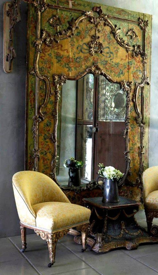 144 Best Antique – Victorian Mirrors Images On Pinterest | Mirror With Regard To Vintage Large Mirrors (#3 of 30)