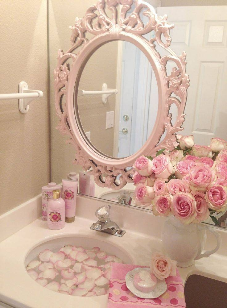 145 Best Pink Bathrooms Images On Pinterest | Home, Dream Pertaining To Large Pink Mirrors (#1 of 30)