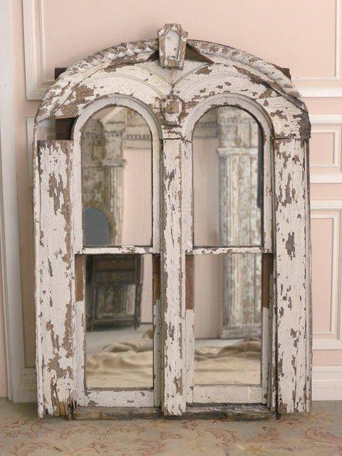 146 Best Old Mirrows Images On Pinterest | Mirror Mirror, Mirrors Inside Shabby Chic White Distressed Mirrors (#2 of 30)
