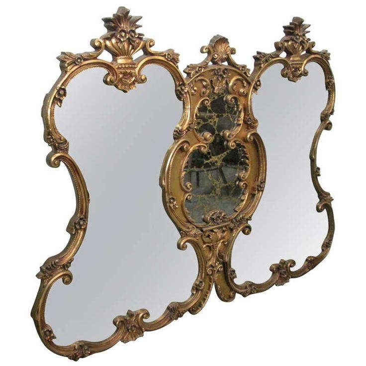146 Best Rococo 1714 1780 Images On Pinterest | Rococo, 18Th With Regard To Antique Triple Mirrors (#1 of 20)
