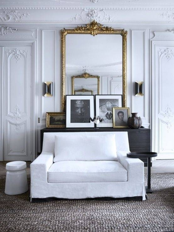 148 Best Silver, Pewter & Gold Interiors Images On Pinterest Pertaining To Large White Rococo Mirrors (#2 of 30)