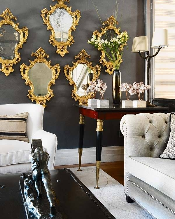 148 Best Silver, Pewter & Gold Interiors Images On Pinterest Throughout Pewter Ornate Mirrors (View 1 of 30)