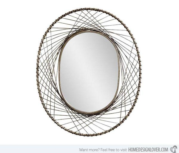 15 Designer Contemporary Oval Mirrors To Love! | Home Design Lover Intended For Black Oval Wall Mirrors (View 9 of 20)