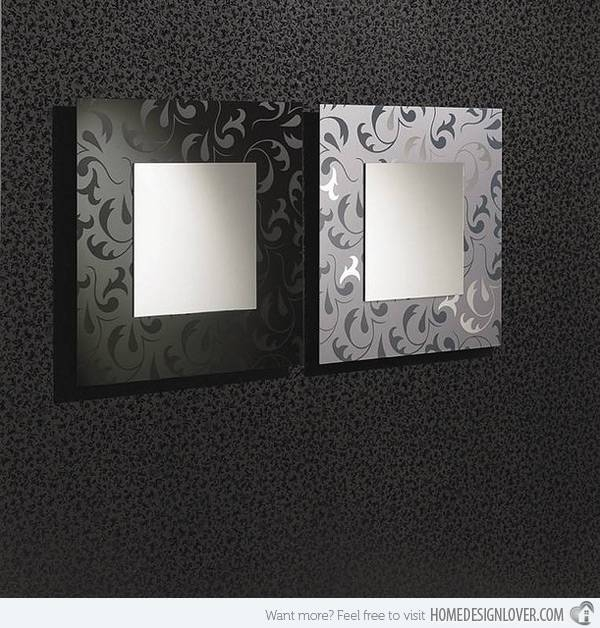 15 Fascinating And Exceptional Modern Mirror Designs | Home Design Within Modern Silver Mirrors (#1 of 20)
