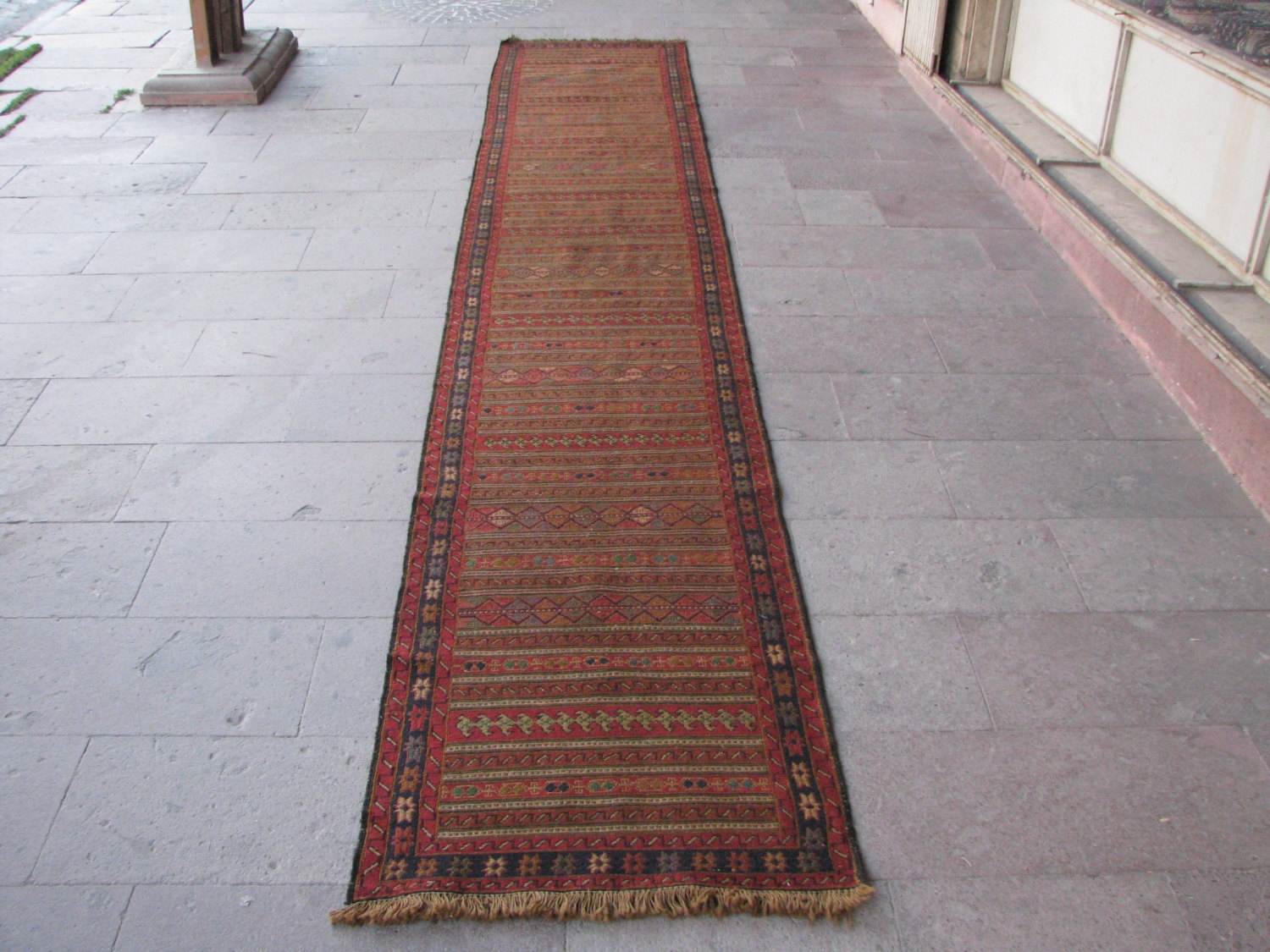 15 Feet Hallway Runner Rug Soumak Kilim Sumak Runner Very Long With Regard To Long Hallway Carpet Runners (#1 of 20)