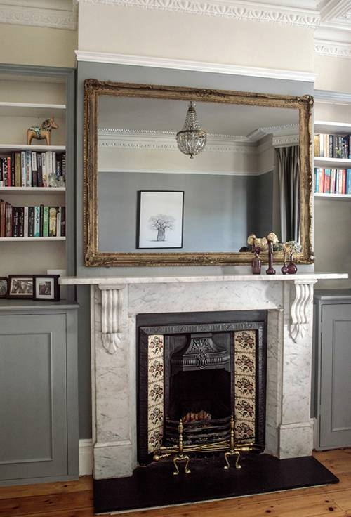 15 Ways To Style A Mantel – Design*sponge Pertaining To Large Mantel Mirrors (#1 of 30)