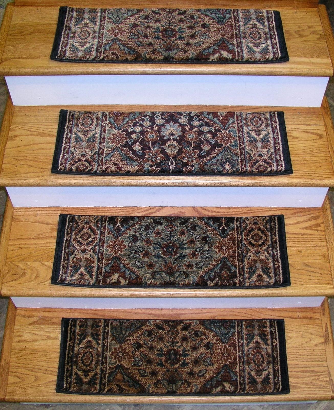 152938 Rug Depot Premium Carpet Stair Treads Set Of 13 Treads Throughout Premium Carpet Stair Treads (#1 of 20)