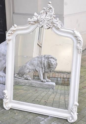 153 Best Lounge – French Images On Pinterest | Lounges, Mirror With Regard To Large White Ornate Mirrors (View 4 of 20)