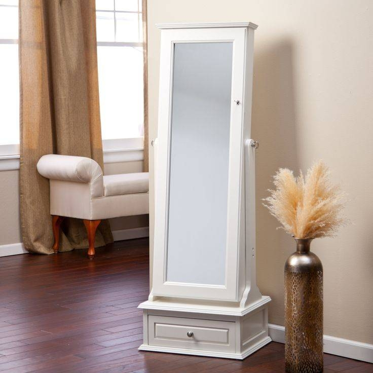 153 Best Mirror Storage Images On Pinterest | Jewelry Armoire Regarding Free Standing Mirrors With Drawer (View 3 of 20)