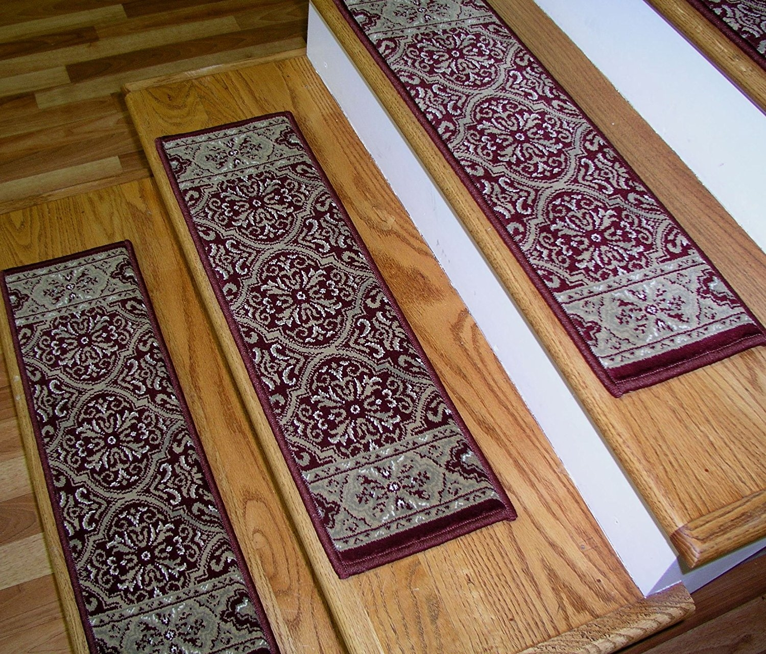 157575 Rug Depot Premium Carpet Stair Treads 26 X 8 Stair With Regard To Stair Treads And Matching Rugs (#1 of 20)