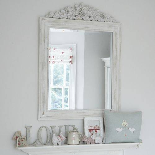 159 Best Vintage Mirrors Images On Pinterest | Mirror Mirror Inside Shabby Chic White Distressed Mirrors (#3 of 30)
