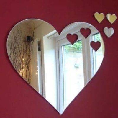 166 Best Mirror – Specchio – Miroir – Lustro Images On Pinterest With Regard To Large Heart Mirrors (View 2 of 15)