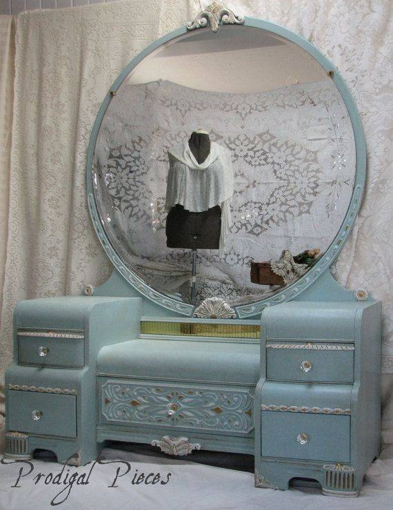 17 Best Chabby Chic Vanity Ideas Images On Pinterest | Vintage Throughout Shabby Chic Round Mirrors (#2 of 20)