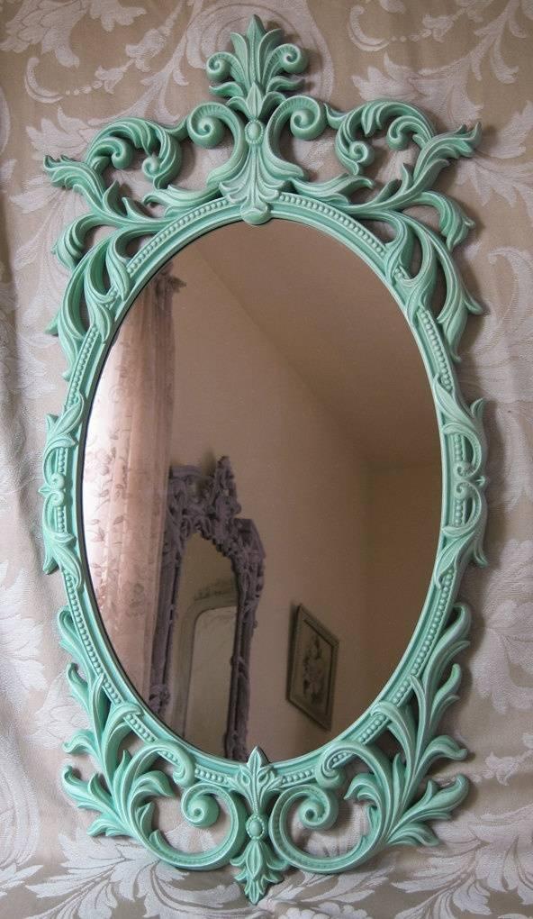 17 Best Mirrors Art Nouveau, Art Deco, Antique, Vintage Images On For Large Oval Mirrors (#1 of 20)