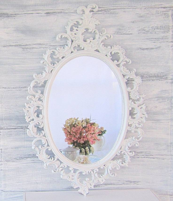 Popular Photo of White Shabby Chic Wall Mirrors