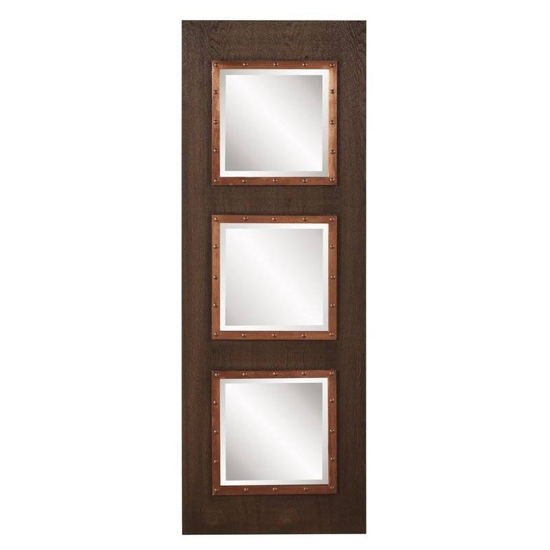 17 Stories Triple Rectangle Wall Mirror | Wayfair Intended For Triple Wall Mirrors (#4 of 30)