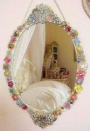 18 Best Broach Crafts Images On Pinterest | Jewelry Art, Vintage Within Embellished Mirrors (View 6 of 30)