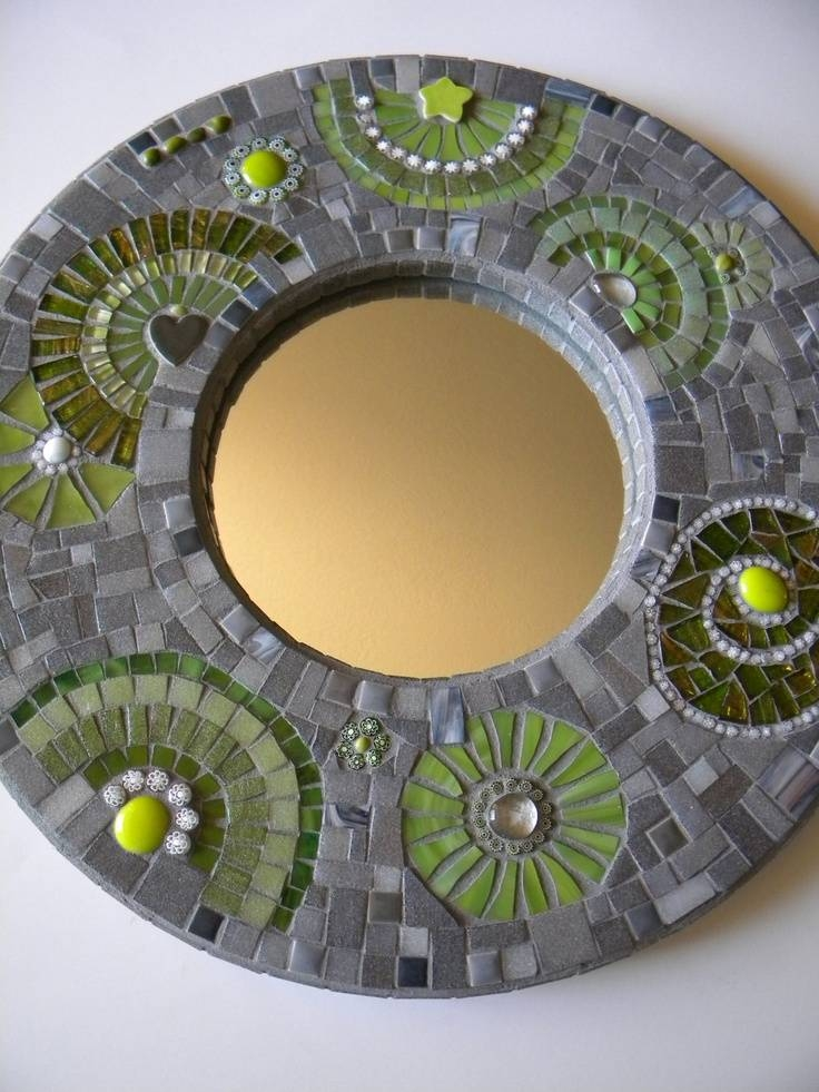 188 Best Mosaic Mirrors Images On Pinterest | Mosaic Art, Stained Pertaining To Round Mosaic Mirrors (#2 of 30)