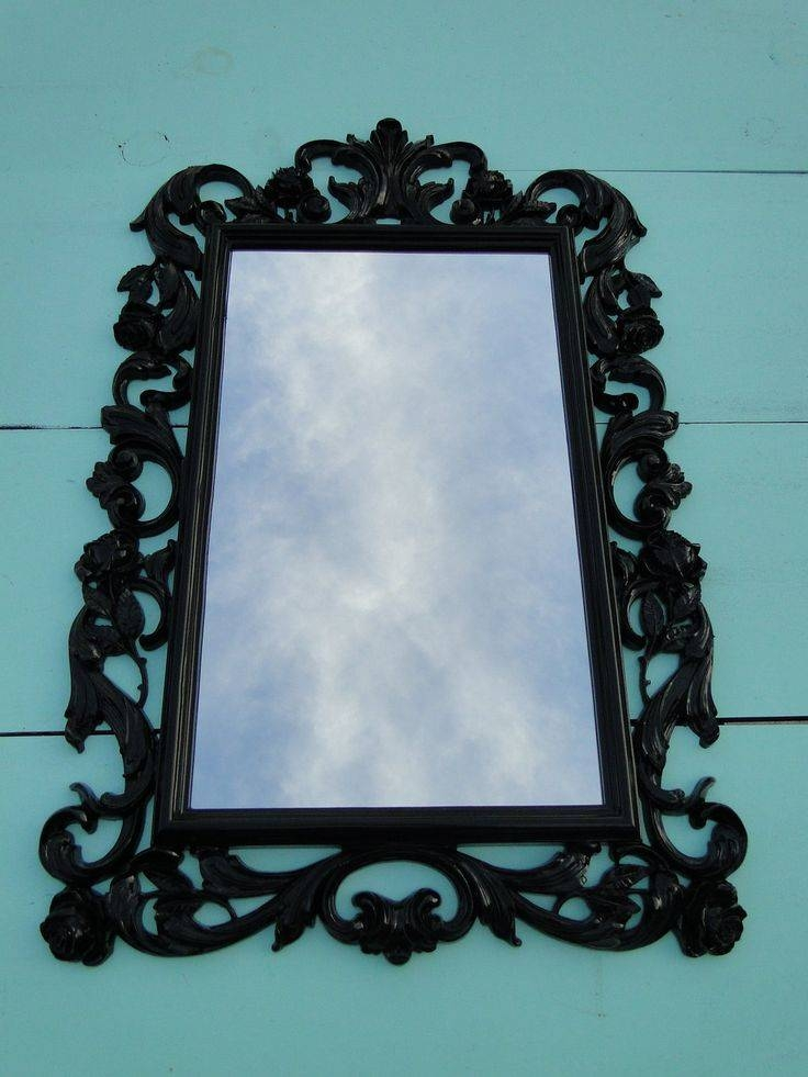 189 Best Vintage Picture Frames + Mirrors – Home Decor Images On Pertaining To Large Black Vintage Mirrors (#4 of 30)
