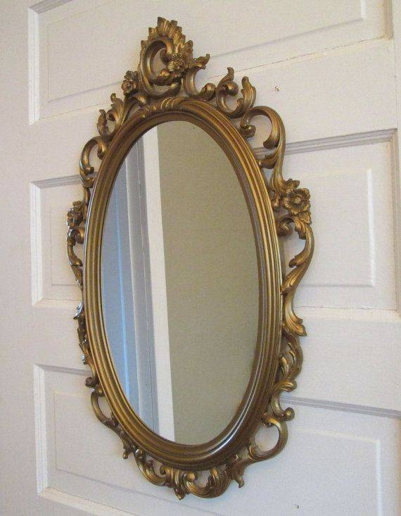 189 Best Vintage Picture Frames + Mirrors – Home Decor Images On With Regard To Large Oval Wall Mirrors (#2 of 30)