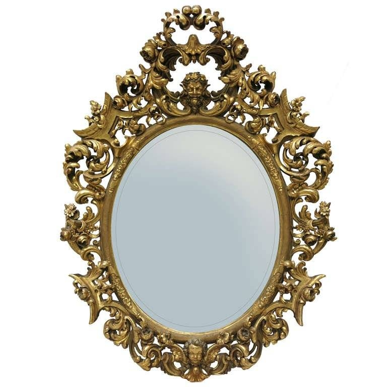 18Th Century Baroque Mirror For Sale At 1Stdibs Intended For Baroque Style Mirrors (#3 of 20)