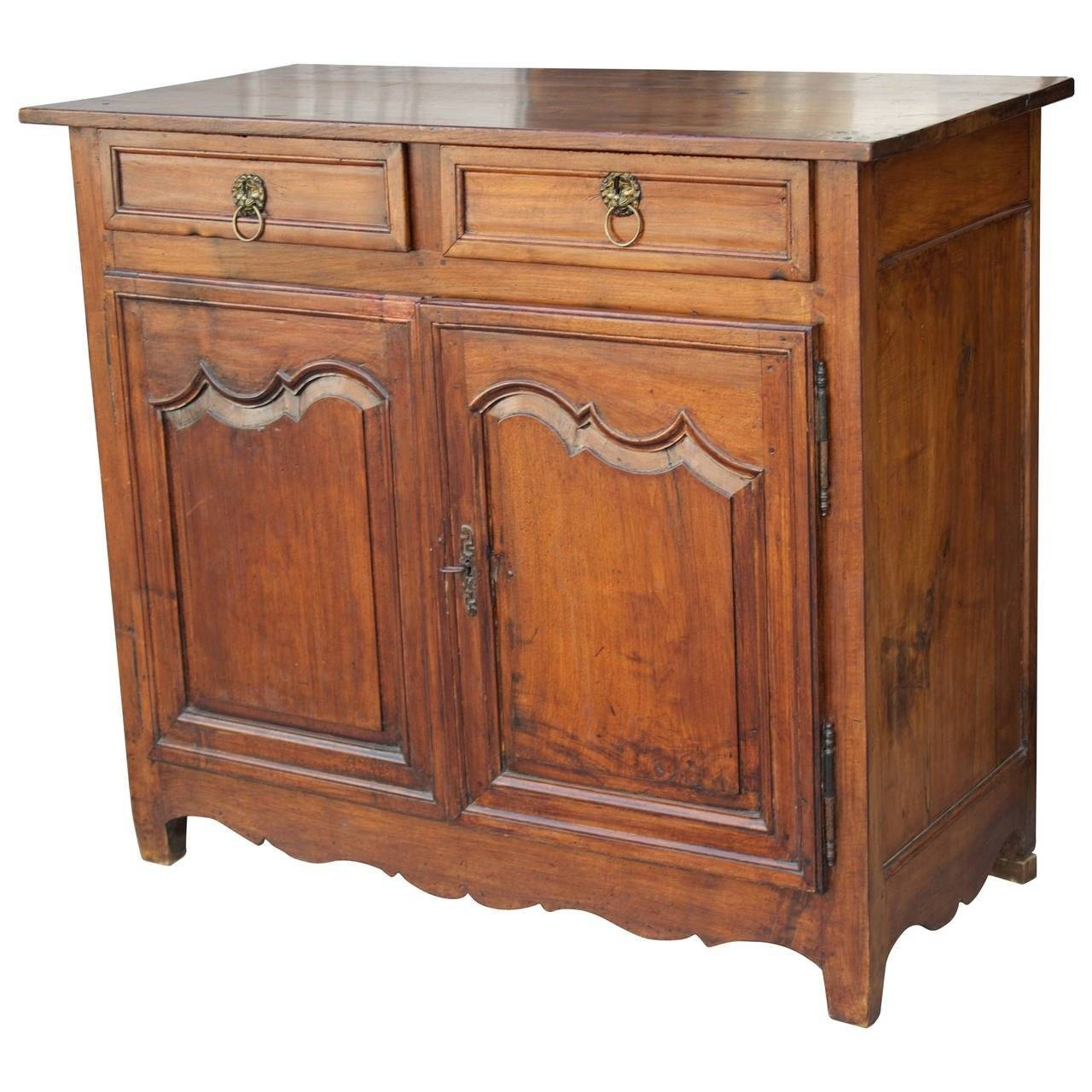 18Th Century French Country Louis Xiv Walnut Buffet Or Sideboard Regarding Sideboard For Sale (#1 of 20)