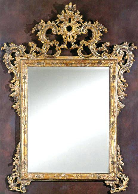 18Th Century Venetian Style Wall Mirror With Heavily Antiqued Real Throughout Venetian Style Wall Mirrors (#2 of 20)