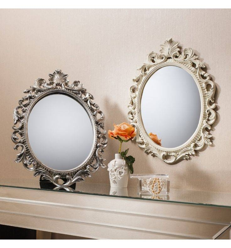 19 Best Mirrors Images On Pinterest | Leaner Mirror, Mirror Mirror Intended For Oval Cream Mirrors (#2 of 30)