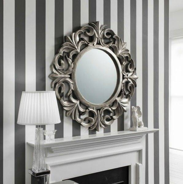 19 Best Round Mirrors Images On Pinterest | Round Mirrors, Wall With Regard To Silver Round Mirrors (#3 of 30)