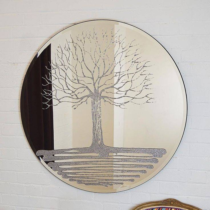 19 Best Round Mirrors Images On Pinterest | Round Mirrors, Wall Within Liquid Glass Mirrors (#5 of 30)