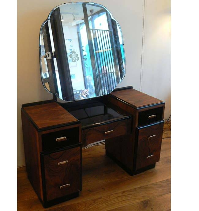 Inspiration About 1920 30s Art Deco Dressing Table With Round Mirror Anecdotes Design