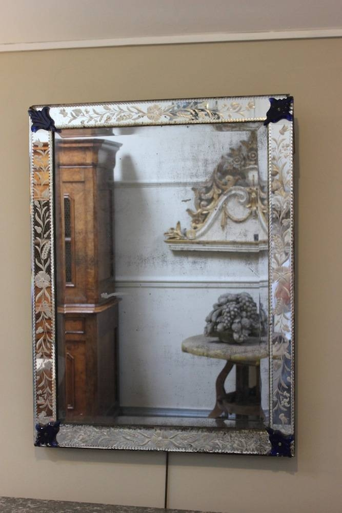 1930S Bevelled Glass Venetian Mirror – Square Mirrors Within Square Venetian Mirrors (#2 of 20)