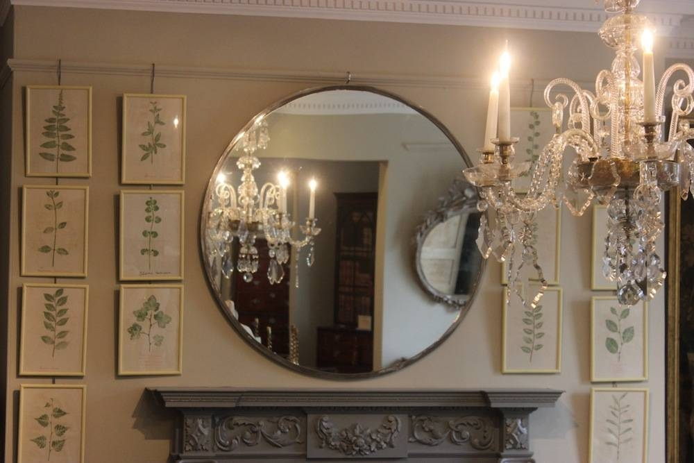 1960S French Large Round Mirror – Paintings & Mirrors Regarding Round Large Mirrors (#1 of 20)