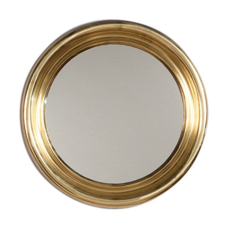 1970S French Vintage Brass Wall Mirror At 1Stdibs Pertaining To Brass Mirrors (#1 of 15)