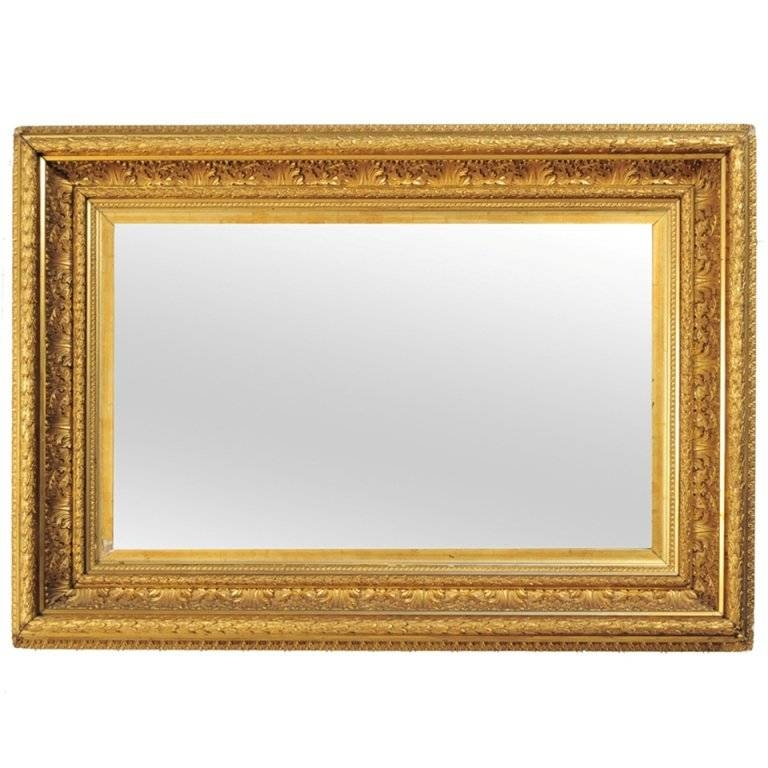 19Th C French Gold Gilt Wood Greek Anthemion Wall Mirror For Sale Regarding Gilt Mirrors (#3 of 20)