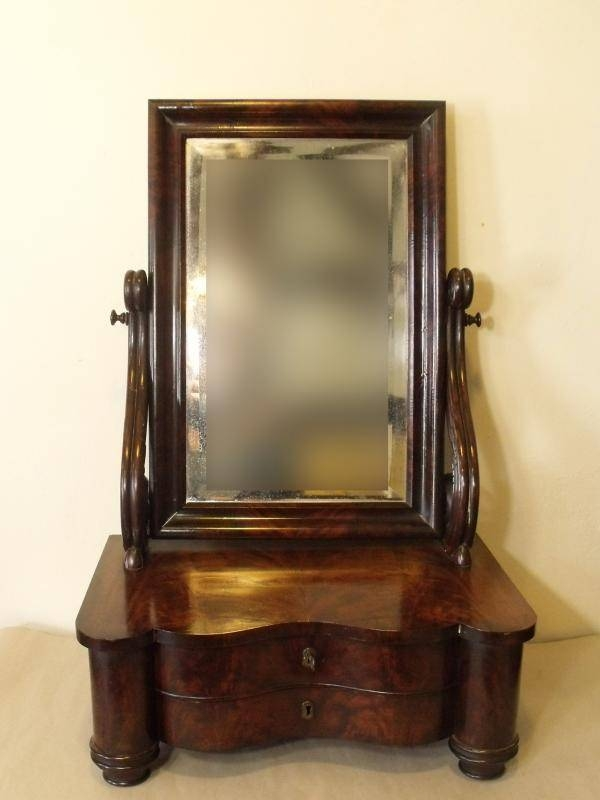 19Th C Mahogany Dressing Mirror – Mirrors/pictures Within Dressing Mirrors (#4 of 20)