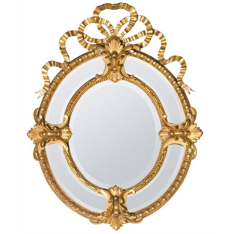 19Th Century Bow Crown French Mirror For Sale At 1Stdibs Pertaining To French Oval Mirrors (#2 of 30)